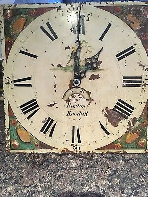Grandfather clock  Movement  & Painted Dial For Restoration/repair