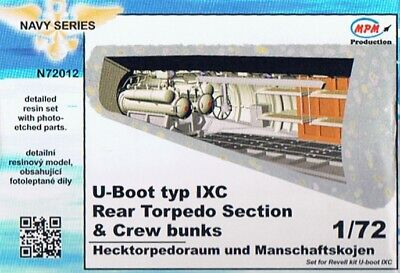CMK N72012 - 1/72 Rear Torpedo Section & Crew Bunks für Revell U-Boot Typ IXC