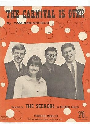 The Seekers The Carnival Is Over Sheet Music