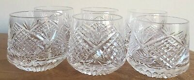 Tyrone Crystal Slieve Donard  Set of six Roly Poly Tumblers