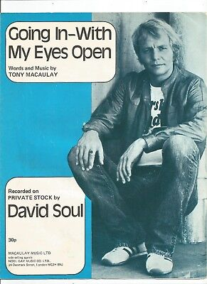 David Soul Going In With My Eyes Open Sheet Music