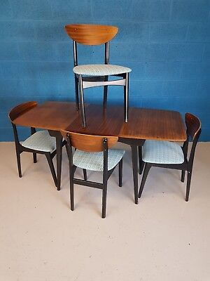 Vintage Retro Mid Century Nathan Butterfly Chairs And Dining Table
