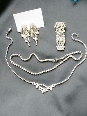 Lot Art Deco Design Jewellery - Necklaces Earrings + Dress Hook