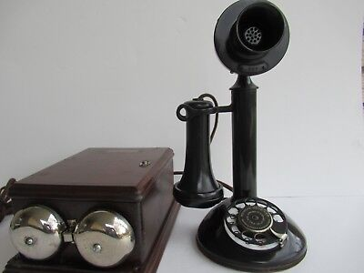 Northern Electric candlestick telephone 295 subset antique telephone walnut