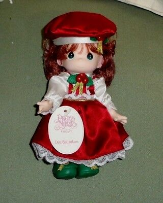 Rare Precious Moments Christmas Doll Holly Red Hair Vintage 1999 New In Pkg