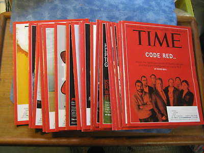 LOT OF 22 TIME MAGAZINE 2014-2015 Mint