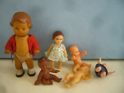 Vintage Ari Dolls House Dolls & Other Rubber & Early Plastic Tiny Baby Dolls