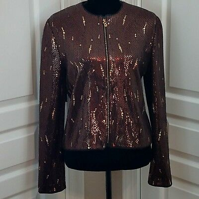 St John Couture by Marie Gray Jacket with Swarovski Crystals & Paillettes