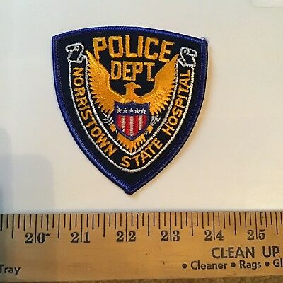 Old Norristown Pa Pennsylvania State Hospital Police Patch