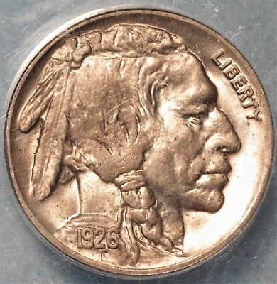 1926 Buffalo Nickel Gorgeous MS64 Lustrous with Sharp Strike