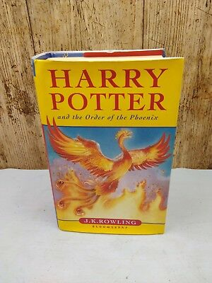 Harry Potter and the Order of the Pheonix hardback 1st edition