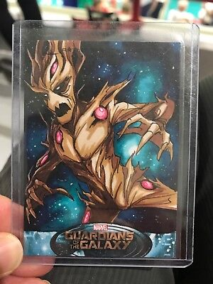2014 UD Guardians O/t Galaxy Artist Color Sketch Card Groot By Kat Laurange 1/1