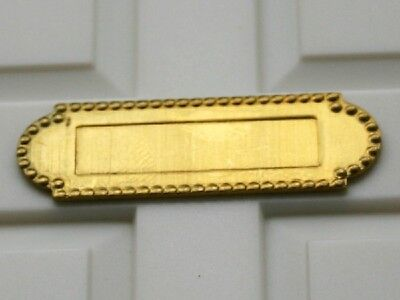 Brass Letterbox, Dolls House Miniature, Door Accessory 1.12 Scale
