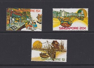 Singapore stamps 1975 MNH Views set