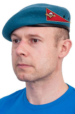 Original Russian USSR Military VDV (Airborne) beret with ugolok (badge) (Blue)