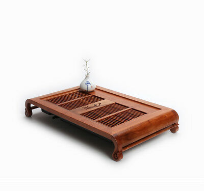 rosewood tea tray solid wood tea table Chinese serving tray drawer drain water