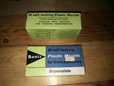 40  Unused 4x4 cm 'Superslide' mounts by Boots in original boxes
