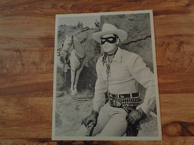 VINTAGE THE LONE RANGER Photo Clayton Moore with Silver 8 x 10