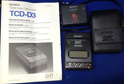 Sony TCD D3 portable DAT Recorder - Refurbished