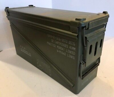 AMMO CAN BOX CHEST TOP DOUBLE LOADING HINGED 40mm - GREAT CONDITION