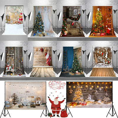 5x7 / 7x5ft Xmas Seamless Backgrounds Christmas Tree Gifts Photography Backdrops