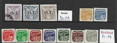 WC1_55. CZECHOSLOVAKIA. Clean lot of 1930s BOB stamps. Mint/Used