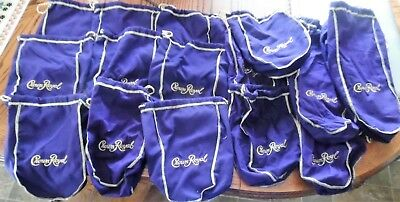 Crown Royal Purple Draw String Bags All New  15 Total FREE SHIPPING