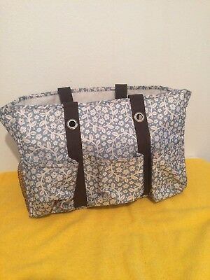 31 Thirty-One Canvas Organizing Shoulder Utility Tote Bag Floral Purse