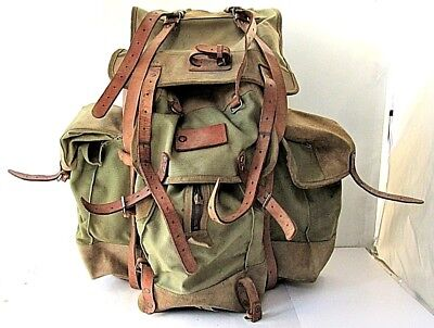 WWII WW2 Vintage Military German canvas Backpack Rucksack M01