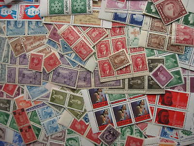 Canada old postage MNH/MH lot, 325 stamps unknown (low) face value, better lurk