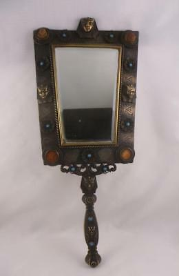 Superb Antique Original Art Deco Egyptian Revival Pharaoh Wall Mirror 1920/30's