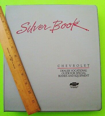 1990 CHEVROLET TRUCK SPECIAL BODY DEALER ALBUM Silver Book 270-pgs ORIG'L BINDER