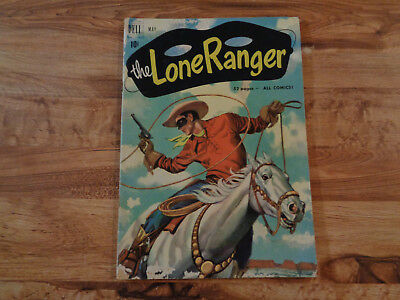 """VINTAGE May 1951 DELL """"The Lone Ranger"""" Comic Book Vol. 1 No. 35 Golden Age"""