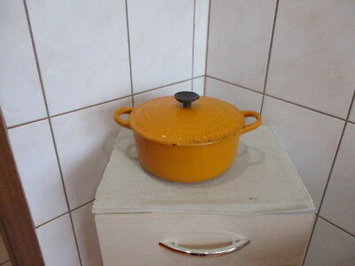 Le Creuset Gusseisen Bräter gelb guter Zustand Made in France