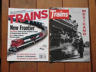 Railroads in Mexico - past and present Trains Magazine 2 issues (1961, 2003)