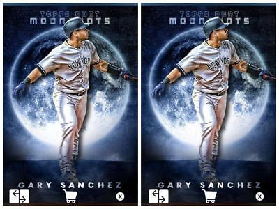 2x GARY SANCHEZ MOONSHOTS YANKEES Topps BUNT DIGITAL Card Trader MARATHON #4