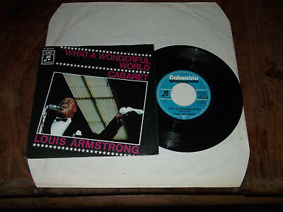 "7"" Louis Armstrong ""what A Wonderful World"" 1969 / Jazz / Pop / Oldies / Kult !!"