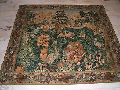 French Tapestry Gobelin Tapisserie Bestiaire Replique Xv Siecle Paris