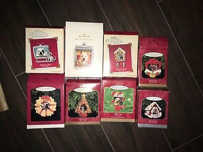 SPECIAL DOG, PHOTO HOLDER,   HALLMARK KEEPSAKE ORNAMENT Lot Of 8 96-06