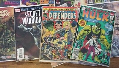 Huge Comic Book Lot 44 Marvel Dc Ind Spider-Man Captain America, Hulk No Doubles