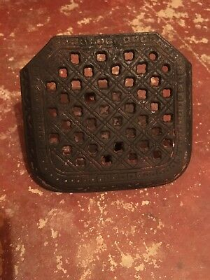 Early Victorian Ornate Cast Iron Fireplace Trivet