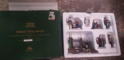 "Dept 56 Dickens' Village Series ""A Christmas Carol Reading by Dickens""  NIB"