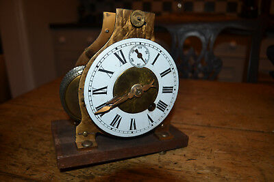 unusual fusee clock in old bespoke case