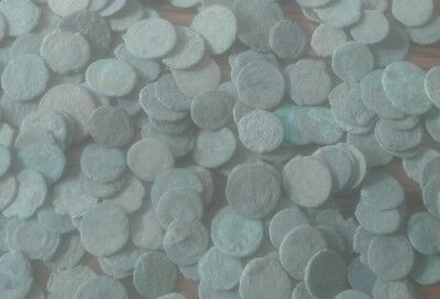 BEST PREMIUM! -10 Ancient Uncleaned ROMAN coin lot, As Found.