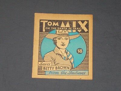 Tom Mix #38, 1934 National Chicle Gum (R151) - VERY NICE Card!!!  HIGH NUMBER!!!