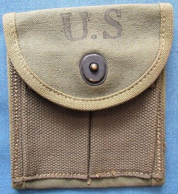 "Original, unused WWII US M1 carbine magazine pouch by ""AVERY,"" dated 1943"