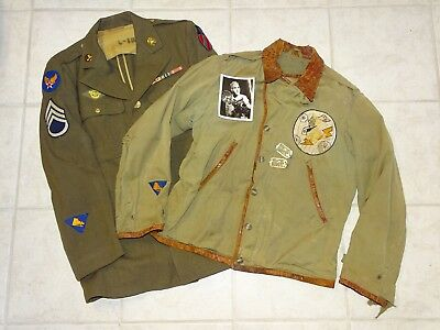 WWII Grouping ID'd 9th Photo Recon Squadron M-41 Jacket w/ Patch, Dog Tags, CBI
