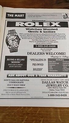 The Mart of the National Association of Watch & Clock Collectors Issue 289 1999