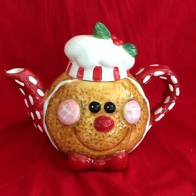 Unique Gingerbread Holiday Tea Pot