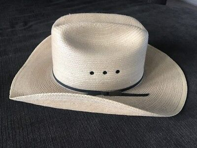 83db976a15703 LARRY MAHAN COLLECTION by Milano Hat Co Bridle Weaved Straw Cowboy Hat 7 5 8  USA -  36.95